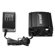 Neewer 1-Channel 48V Phantom Power Supply+Adapter+One XLR Audio Cable for Any Condenser Microphone Recording(China)