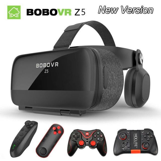 Original bobovr Z5/bobo Z5 vr óculos de Realidade Virtual 120 FOV 3D Óculos google Caixa de papelão com Fone de Ouvido Estéreo para o smartphone
