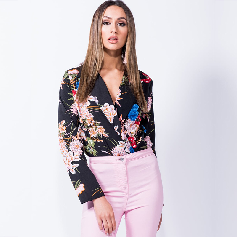 74b6019dafc4 Colysmo Sexy Bodysuit Long Sleeve Jumpsuit Floral Bodysuit Rompers Womens  Jumpsuit Body Feminino Summer Sexy Playsuit Women 2018-in Bodysuits from  Women s ...
