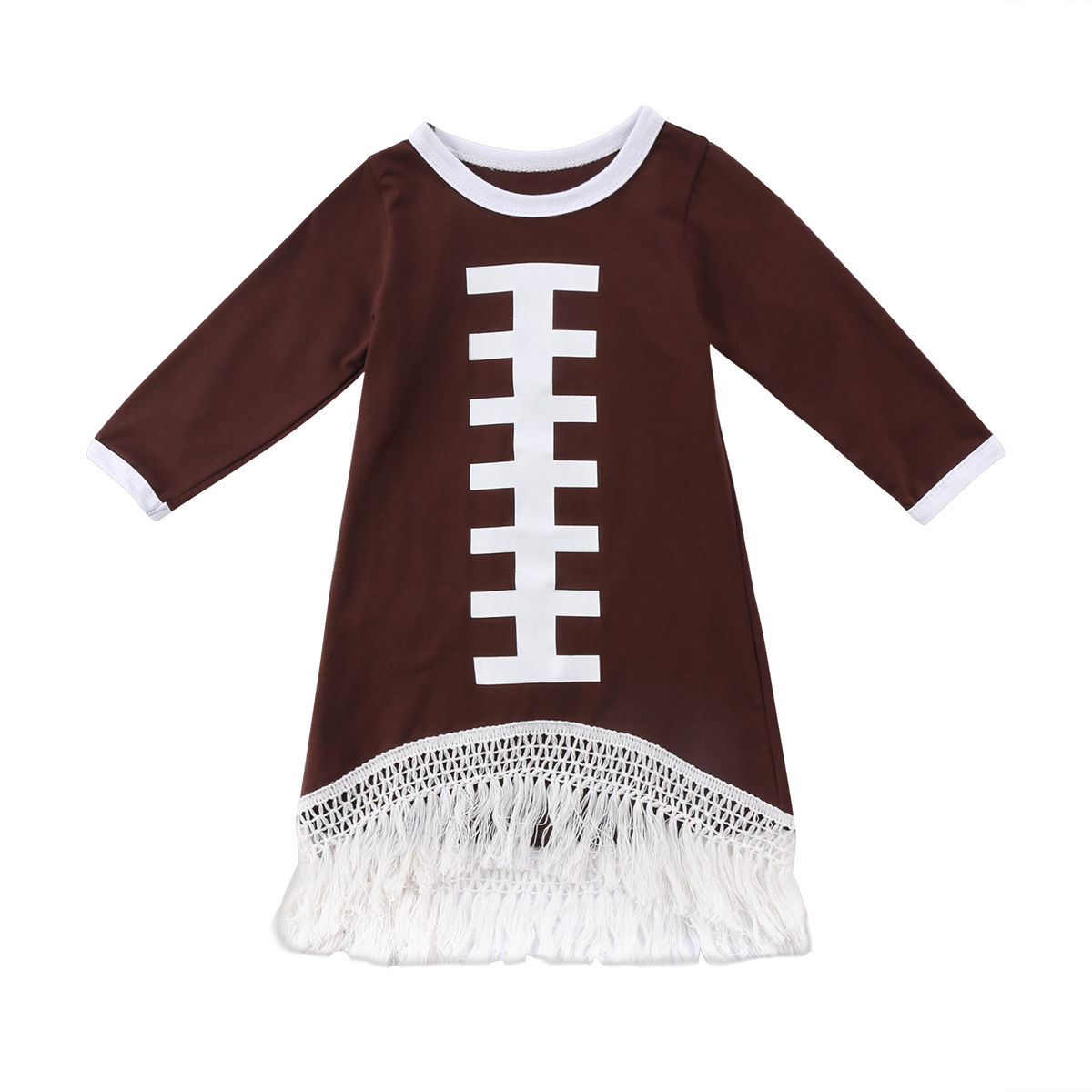 0--5T Toddler Kids Baby Girl Long Sleeve Football Tassels Dress Little Girls Party Tassel Long Sleeve Dresses Clothes0--5T Toddler Kids Baby Girl Long Sleeve Football Tassels Dress Little Girls Party Tassel Long Sleeve Dresses Clothes