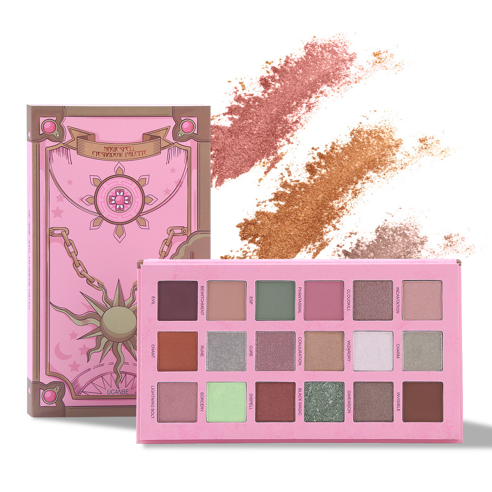UCANBE New Magic Spell 18 Color Eye Shadow Pearl Matte Makeup Eyeshadow Pallete