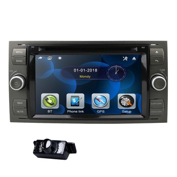 2 Din 7 Inch Car DVD Player For Ford Focus/Mondeo/Transit/C-MAX/Fiest GPS Navigation Radio 1080P FM AM DAB Steel wheel control image