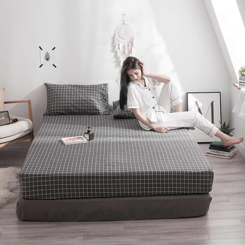 2019 New Product 1pcs 100% Cotton Printing bed mattress set with four corners and elastic band sheets