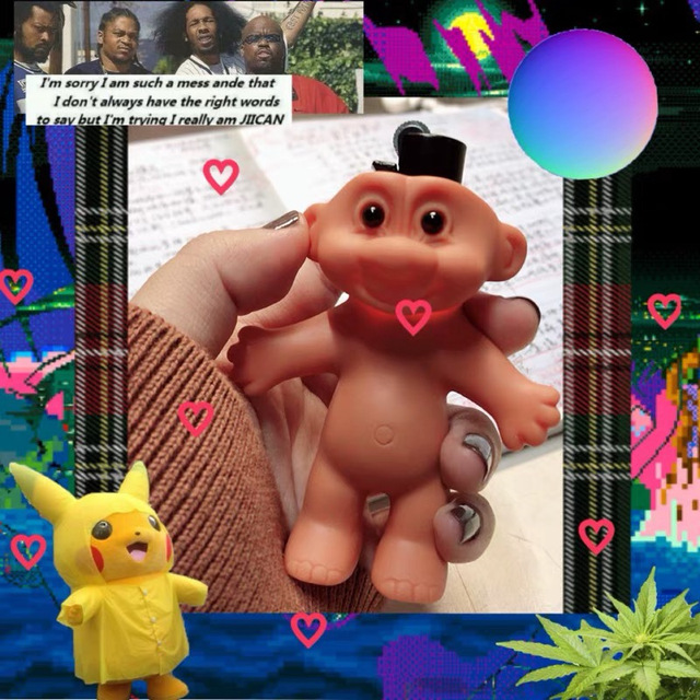 Plastic Carton Doll Lighter Holder 3