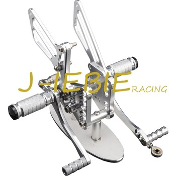 CNC Racing Rearset Adjustable Rear Sets Foot pegs Fit For Suzuki GSXR1000 GSXR 1000 K5 2005 2006 SILVER