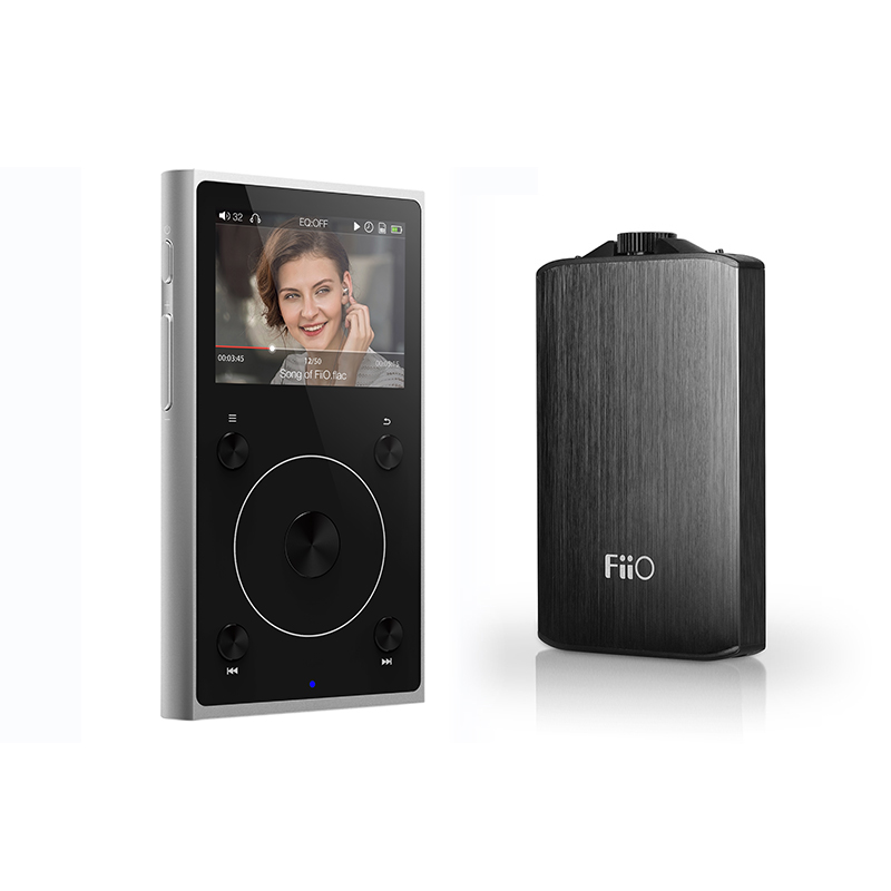 Bundle Sale of Portable Hi-Res Music Player FiiO X1II with Headphone Amplifier A3 bundle sale of fiio android based music player x7 ii with balance am3a with fiio triple driver hybrid in ear headphone f9