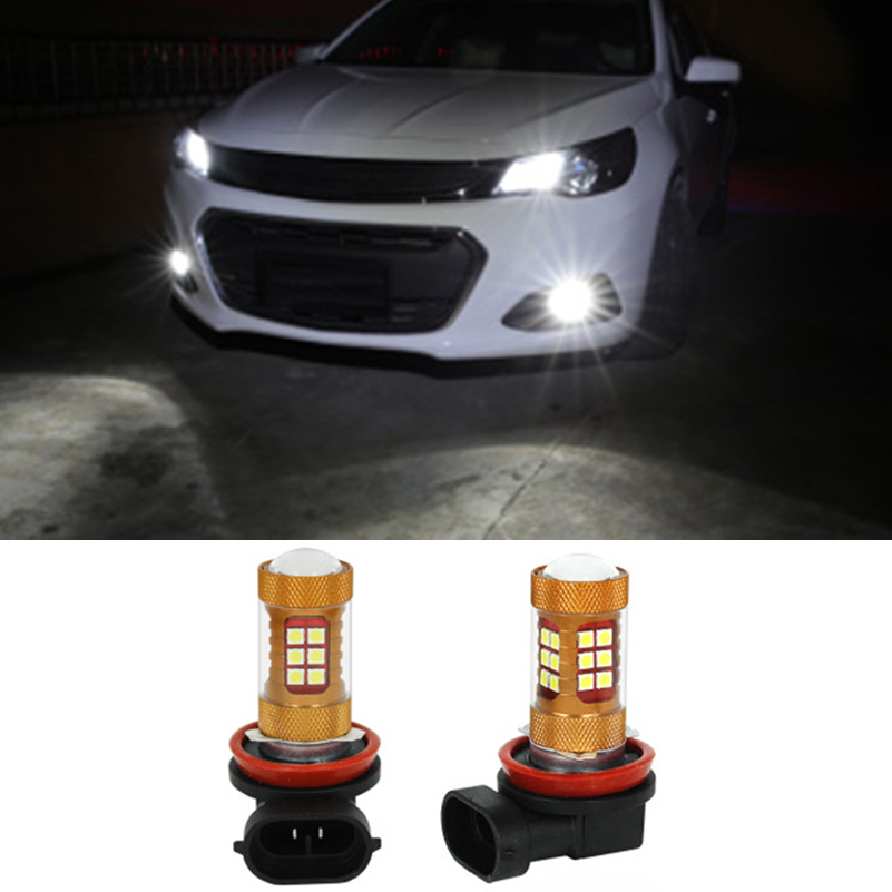 2x 56W LED H8 Car Fog Driving Lamp Fog Light Bulb For Chevrolet Cruze Captiva Sport Camaro Sonic Spark Equinox 2013 2014 2015 ...