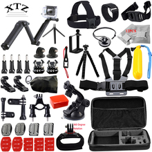 for Go professional equipment set for gopro equipment mount hero 5 four three 2 Black Version / M10 / SJ4000 / xiaoyi chest tripod 13G