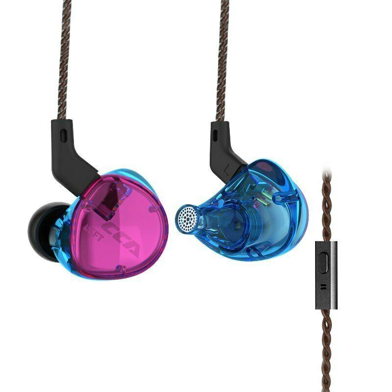 CCA C04 In-Ear Earphone Hybrid In Ear HIFI DJ Monitor Running Sport Headset Earbud with Detachable Cable