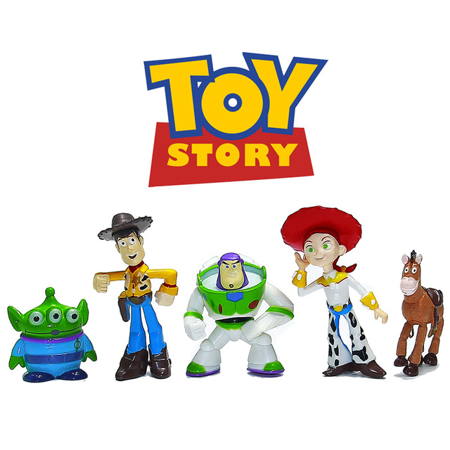Toy Story 3 party buzz Lightyear Woody Green Man Action Figures 5pcs ...