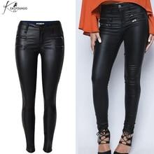 Ladies Pants Leather Women Pants Capris Leggings Autumn Winter Sexy High Waist Pants Trousers Black Pencil Pants Female Bottom