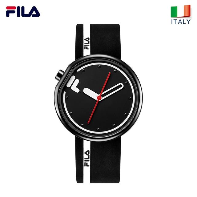 64270592717e FILA watch men and women couple watch quartz watch sports student simple  fashion silicone belt watch 161