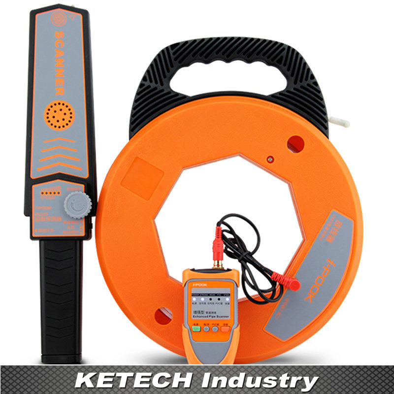 Split Wall Pipe Blockage Detector Wall Scanner Diagnostic Tool PVC Pipeline Blocking Clogging Scanner Metal Plumbers Instrument