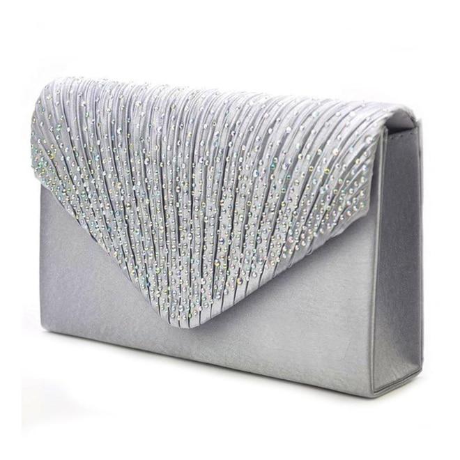 Evening Bag for Women, Glitter Rhinestone Wedding Evening Purse Crystal Envelope Crossbody Shoulder Clutch Bags 1