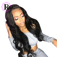 RULINDA Lace Front Human Hair Wigs For Black Women With Baby Hair Brazilian Remy Hair Lace