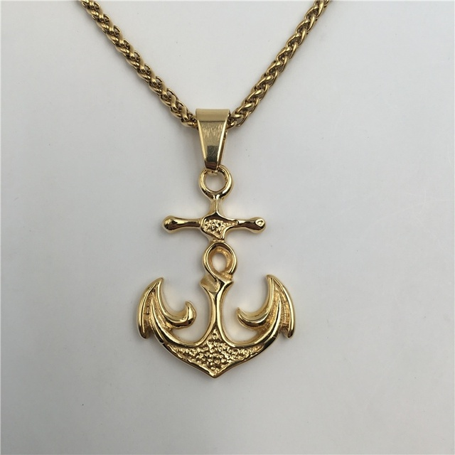 2016 new anchor pendant men gold color jewelry stainless steel navy 2016 new anchor pendant men gold color jewelry stainless steel navy navigation necklace p568 aloadofball