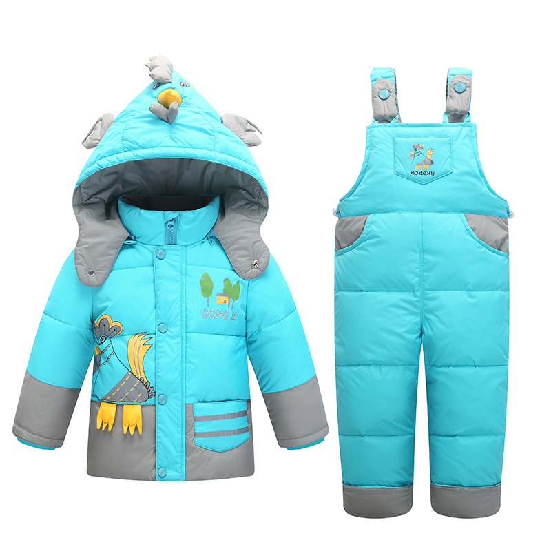 Kids Snowsuits Winter Down Jackets For Boys Girls Children Clothes Warm Jacket Toddler Outerwear Clothing Set Jumpsuit Costume 2017 winter down jackets for boys