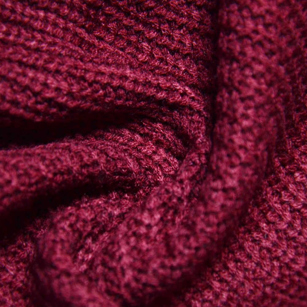 Женский свитер с вырезом лодочкой винно-красного цвета, Свободный кардиган с длинным рукавом, пуловер