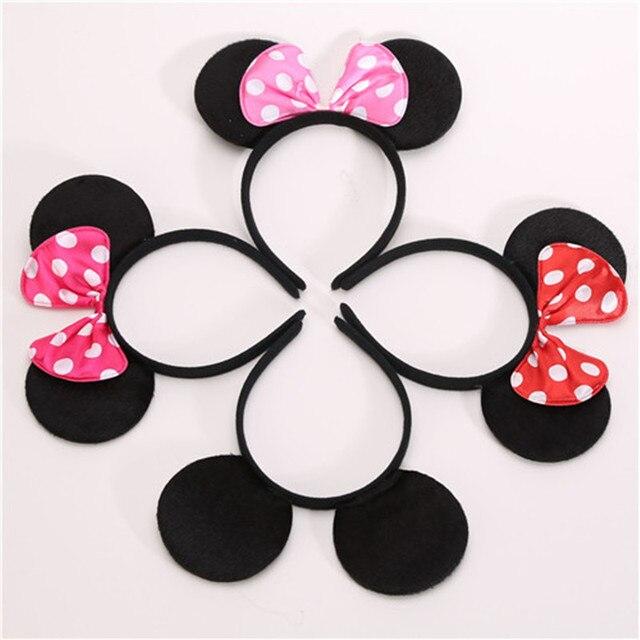 0136dedf8f5933 6 sztuk piękne dziewczyny łuki Minnie uszy Myszki Miki akcesoria do włosów  dla dzieci dla dzieci