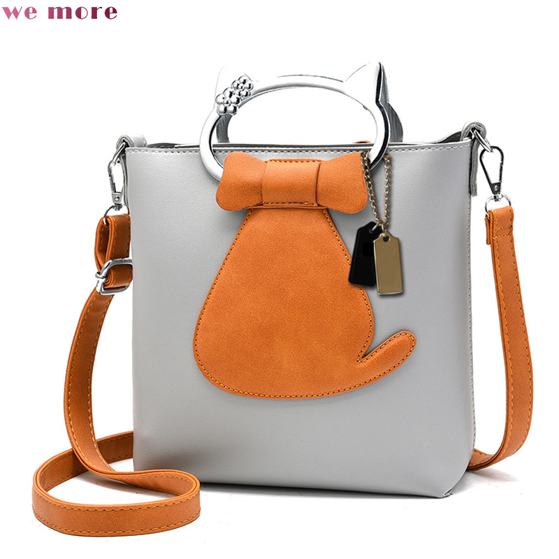 we more 2018 New Design Women Bag Quality Leather Handbag Casual Pattern Tote Lady Bow Messenger Bag Animal Prints Shoulder Bags