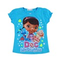 2017 Summer Clasical Doc Mcstuffins Costume Girl T-Shirts Children Cotton Doc Mcstuffins Clothes T Shirt For Baby Girl Tees