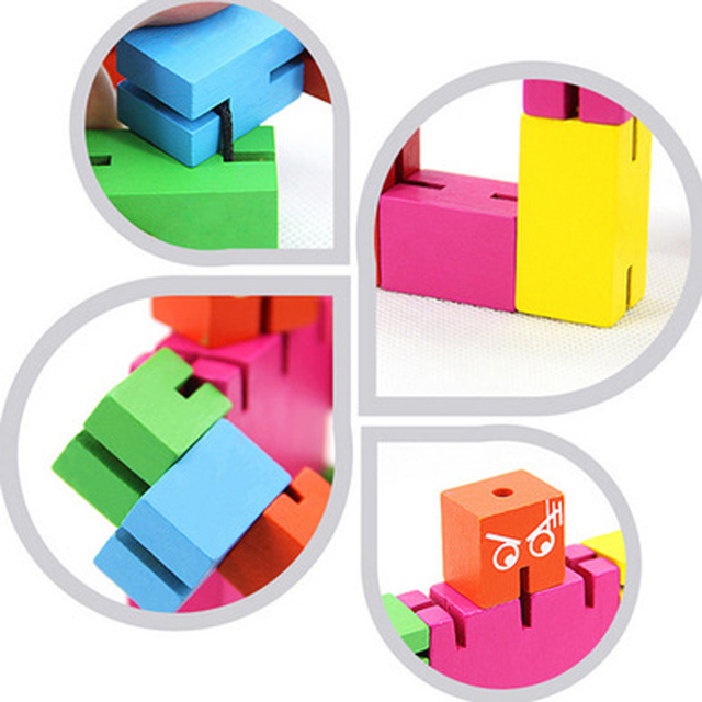 3D Robot Puzzle Magic Cube Creative Phone Holder DIY Wooden Puzzle Adult Puzzle Cool Toy Boy Birthday Gifts
