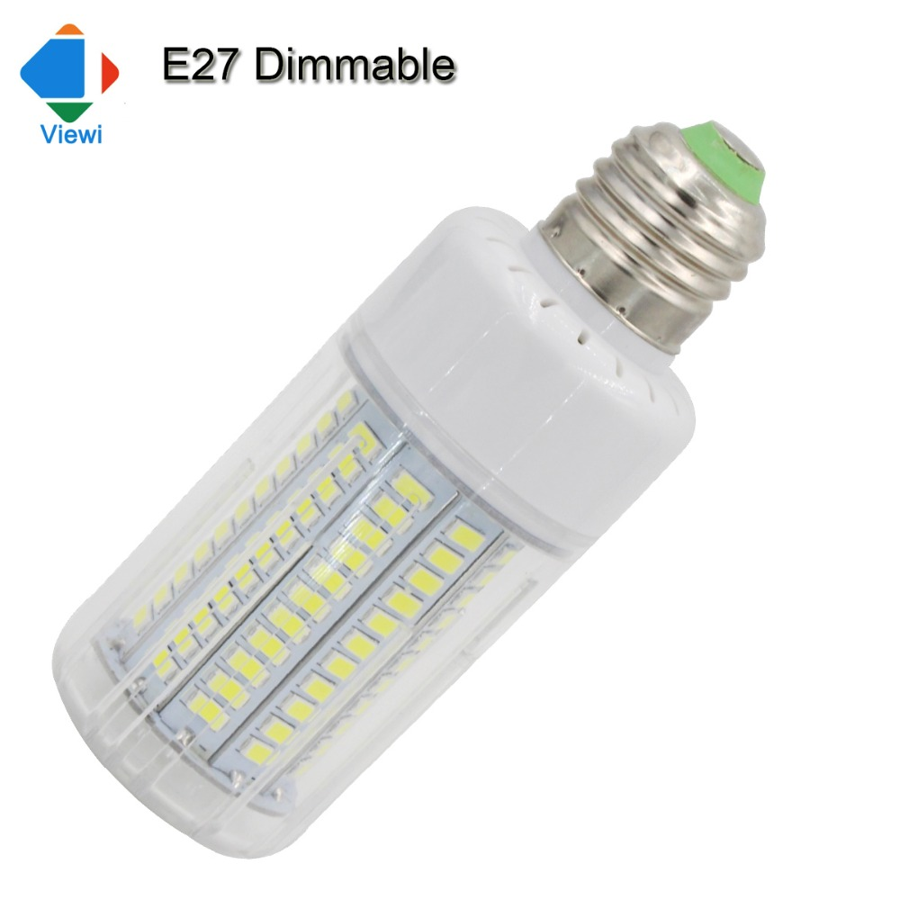 led e27 dimmable corn bulb lamp 25w high quality home lighting smd 5736 130leds warm white 360 degree 110v 220v dimmer lampadas smart bulb e27 7w led bulb energy saving lamp color changeable smart bulb led lighting for iphone android home bedroom lighitng