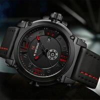 NAVIFORCE Top Brand Luxury Men S Sports Watches Men Waterproof Quartz Watch Man Leather Military Wrist