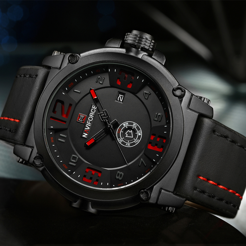 NAVIFORCE Top Brand Luxury Men's Sports Watches Men Waterproof Quartz Watch Man Leather Military Wrist watch Relogio Masculino 2017 new luxury brand naviforce watches men leather quartz digital watch man fashion military casual sports wrist watch relogio