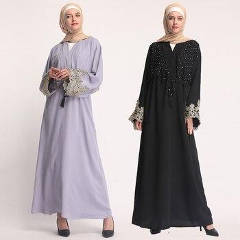 2019 Caftan Abaya turquie Qatar eau Oman Bangladesh Hijab Robe musulmane  Abayas femmes Robe Dubai Caftan turc vêtements islamiques