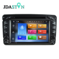 JDASTON 7 Inch Android Car GPS Đài Phát Thanh DVD Player Cho Mercedes Benz CLK W209 W203 W210 W168 SLK W170 C208 W208 Viano Vito Vaneo