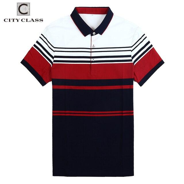 145e1bdba CITY CLASS Brand clothing top mens polo shirt business stripes male polo  shirt short sleeve breathable