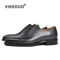 Vikeduo 2018 Handmade Retro Design Fashion Shoes Luxury Wholecut Wedding Male Oxford Footwear Genuine Leather Men Dress Shoes