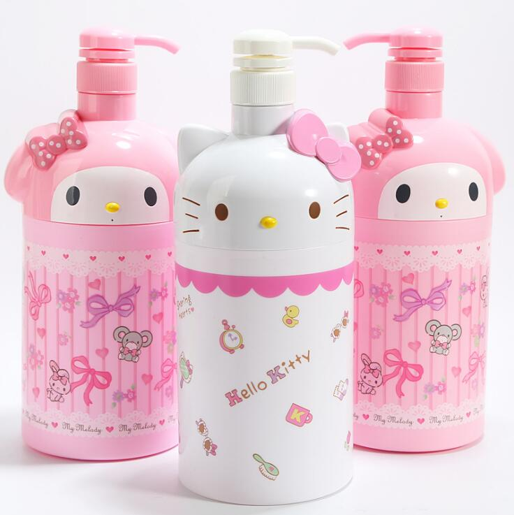 Melody Hallo Kitty Kunststoff ornamente dekorative kinder spielzeug Dusche gel flasche abfüllung flasche hand sanitizer flasche WJ01