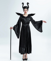 black devil dress demon style dress halloween cosplay costume for women long witch dress witch cosplay costumes festival clothes