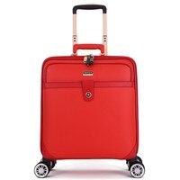 Universal wheel trolley case,High quality metal handlebar luggage,16/20Boarding box,Waterproof TSA customs lock travel case
