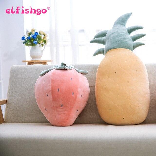 3d Simulation Obst Plüsch Kissen Erdbeere Pillow Ananas Spielzeug