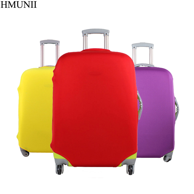 HMUNII Luggage Protective Cover For 18 to <font><b>30</b></font> inch Trolley suitcase Elastic Dust Bags Case Travel Accessories Supplies Item A1-<font><b>10</b></font> image