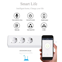 Smart Socket Wifi Wireless Remote Control Power Strip EU Plug 3 AC Socket + 4 USB Charging Ports Working For Alexa