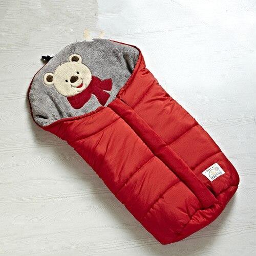 Outono Inverno Quente Sleeping Bag Sleepsack Para Carrinho de Bebê, Macio saco de Dormir para o bebê, Bebê slaapzak, naissance couchage saco