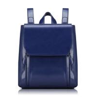 Backpack Mochila Lemochic Backpack Vintage Genuine Leather Women Bag Fashion School Bags For Teenagers Military Woman