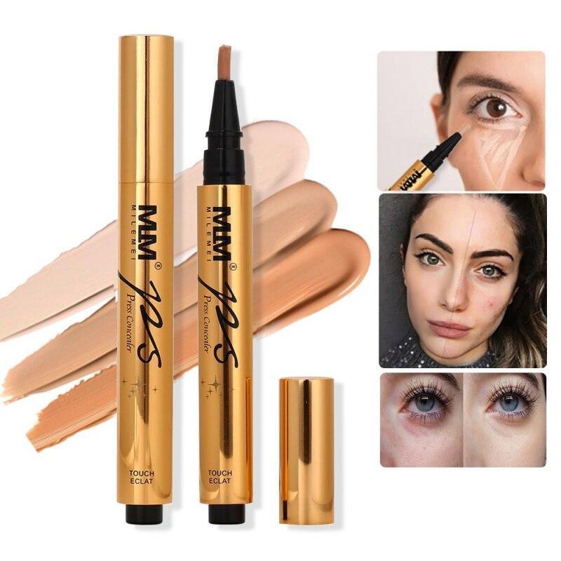 Natural Concealer Pen Covering Pimple Pimple Marks Fine Lines Brighten Skin Colour Oil Con