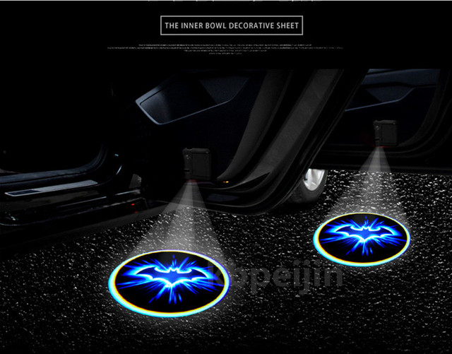 2pc Car Styling Led Wireless Car Welcome Door Projector Logo Batman