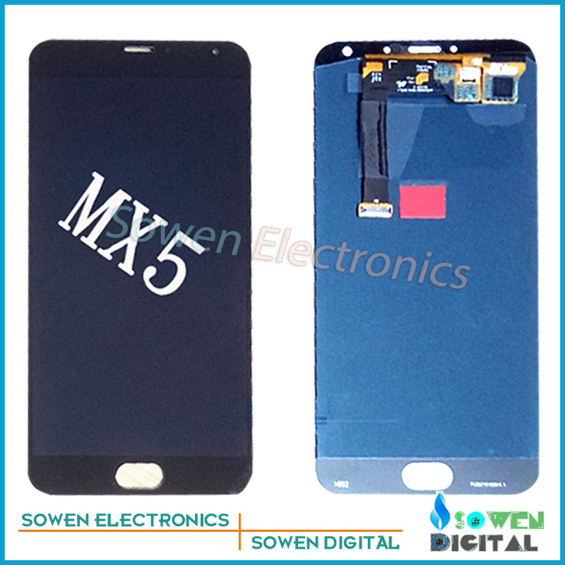 5.5 inch for Meizu Mx5 LCD display with Touch Screen with Bezel frame Full Sets assembly ,black or white ,Best quality