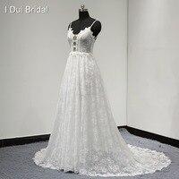 Spaghetti Strap A line Lace Wedding Dress Romantic Unique Design New Style Drop Ship