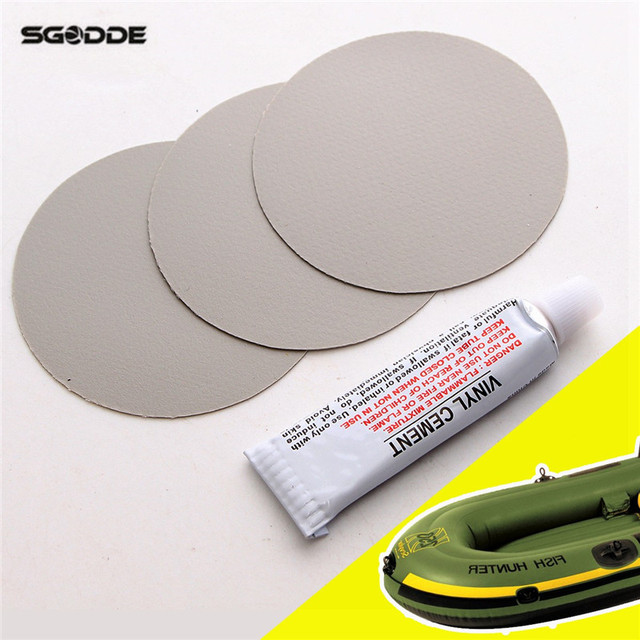 US $4.21 |New PVC Puncture Repair Patch Glue Kit Adhesive For Inflatable  Toy Swimming Pools Float Air Bed Dinghies Circular Patches-in Pool & ...