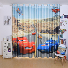 Custom Made 2x Drapery Drape Curtain Grommet Hook Window Dressing Nursery Kids Children Room 200cm x 260cm Cartoon Red Blue Cars