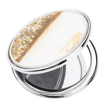 Pretty Shinny Starry Compact Cosmetic Mirror Elegant Pocket Size Small Makeup Foldable Mirror for Travel or Purse(China)