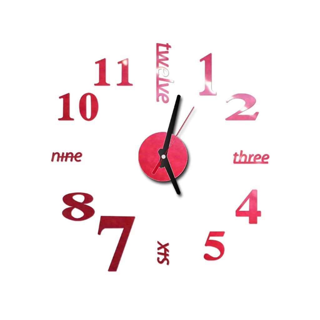 Uhr Uhr Wanduhren Horloge 3d Diy Acryl Spiegel Aufkleber Hause Dekoration Uhr Hause Wandbild Decals Wohnzimmer Quarz Nadel
