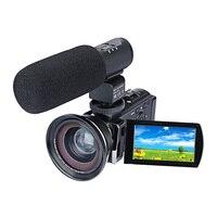 DSLR микрофон видео цифровой Камера HDMI HD 1080 P 3.0 дюйм(ов) ЖК-дисплей Портативный видеокамера Широкий формат Камера с микрофоном